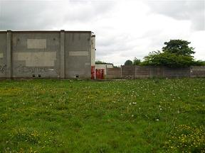 The last bit of the Showground still remaining. The equipment building and players entrance gate.