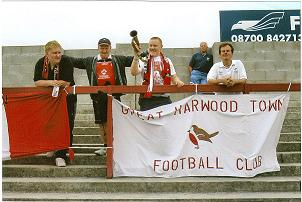 Some of the Blackburn & Darwen Robins on the Clayton End at Stanley.